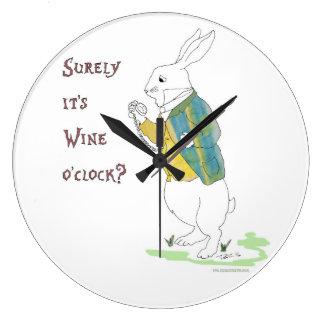 Alice in Wonderland White Rabbit. Large Clock