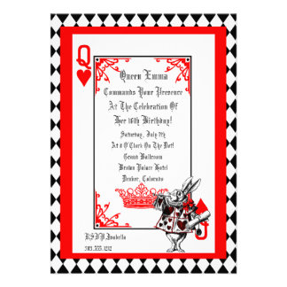 Alice In Wonderland White Rabbit Party Invitation
