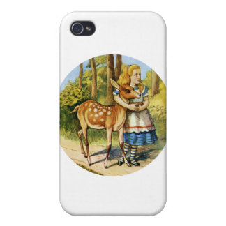 Alice in Wonderland with a Young Deer iPhone 4/4S Case