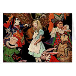 Alice in Wonderland with Friends Illustration Note Card