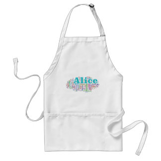 Alice in Wonderland Word Cloud Standard Apron