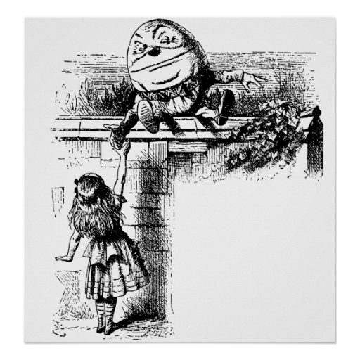 Alice in Wondlerand, Humpty Dumpty with Alice Print