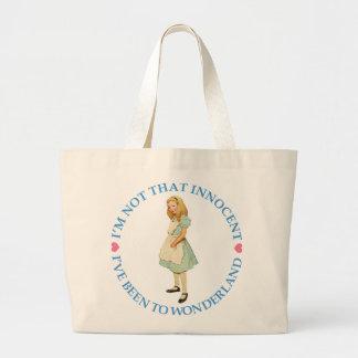 ALICE IS NOT THAT INNOCENT LARGE TOTE BAG