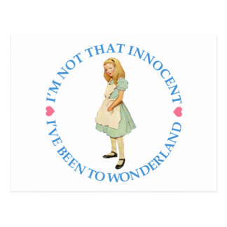 ALICE IS NOT THAT INNOCENT POSTCARD