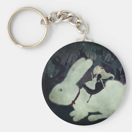 Alice Keychan Basic Round Button Key Ring