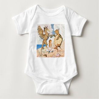 Alice Listens to the Griffin and the Mock Turtle Baby Bodysuit