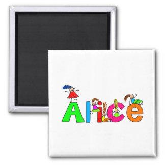 Alice Refrigerator Magnets