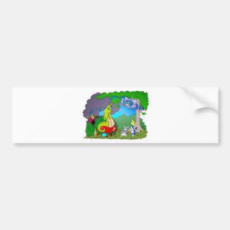 Alice meets Caterpillar Bumper Sticker