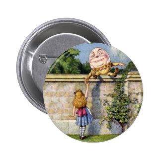 Alice Meets Humpty Dumpty in Wonderland 6 Cm Round Badge