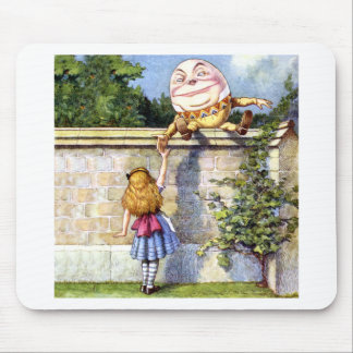 Alice Meets Humpty Dumpty in Wonderland Mouse Mat