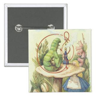 Alice Meets the Caterpillar 15 Cm Square Badge