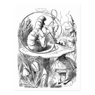 Alice Meets the Caterpillar - Alice in Wonderland Postcard