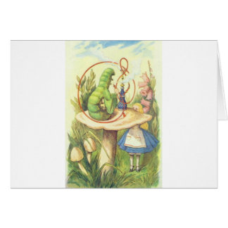 Alice Meets the Caterpillar Card