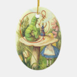 Alice Meets the Caterpillar Ceramic Oval Decoration