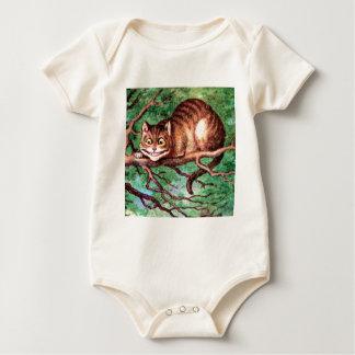 Alice Meets The Cheshire Cat in Wonderland Baby Bodysuit
