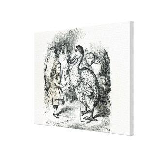 Alice meets the Dodo Canvas Print