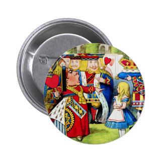 Alice Meets the Queen of Hearts in Wonderland 6 Cm Round Badge