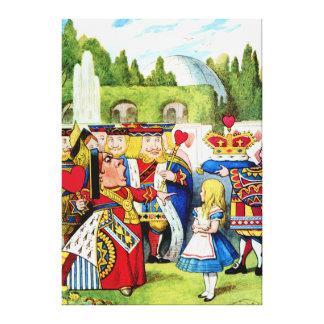 Alice Meets the Queen of Hearts in Wonderland Canvas Print