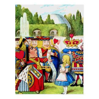 Alice Meets the Queen of Hearts in Wonderland Postcard