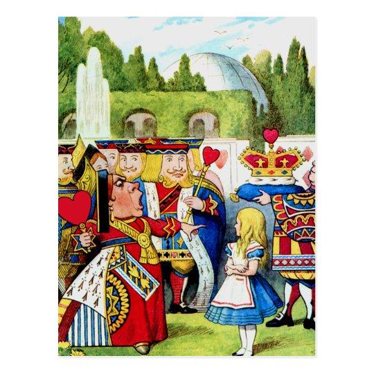 Alice Meets the Queen of Hearts in Wonderland