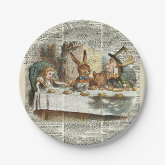 Alice Morning Tea time Paper Plate