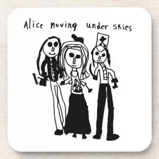 'Alice Moving Under Skies' by Edie Babybat Coaster