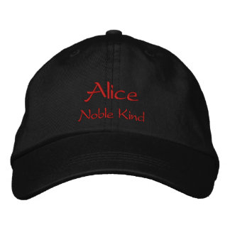 Alice Name Cap / Hat Embroidered Hats