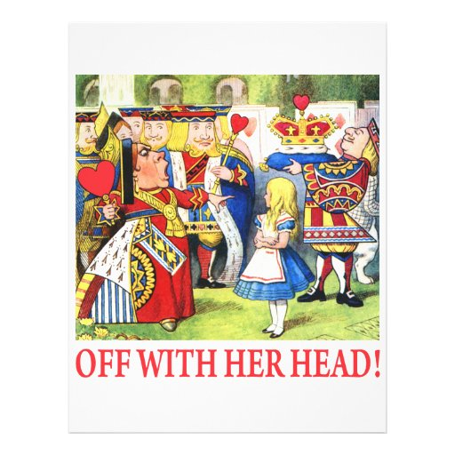 ALICE - OFF WITH HER HEAD! FULL COLOR FLYER