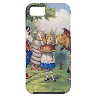 Alice Offers Cake to The Lion and The Unicorn iPhone 5 Cover