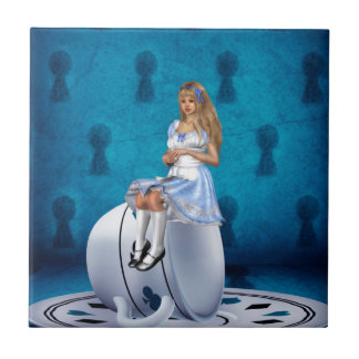 Alice on Teacup Tile