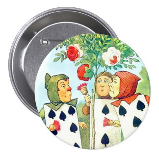 "Alice-Pages Of Spades - 3"" Button"