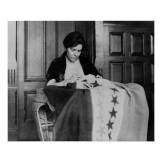 Alice Paul, Sewing Suffrage Flag, 1910s Posters