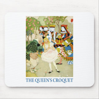 ALICE PLAYS THE QUEEN'S CROQUET MOUSE PAD