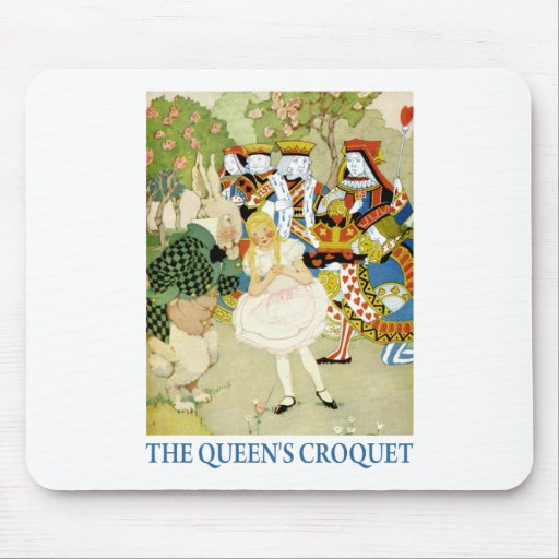 ALICE PLAYS THE QUEEN'S CROQUET MOUSEPADS