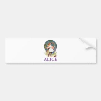 ALICE PREPARES TO  PLAY FLAMINGO CROQUET BUMPER STICKER