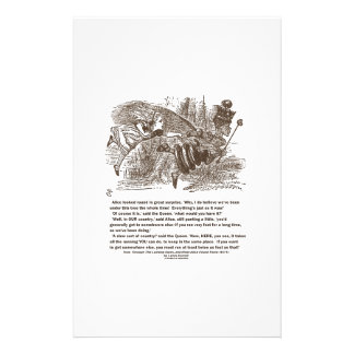 Alice Red Queen Running To Stay In Same Place Personalized Stationery