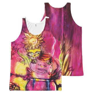 Alice Regata unissex All-Over Print Tank Top