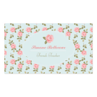 Alice Romantic Vintage Roses Business Card Templates