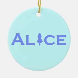 Alice Round Ceramic Decoration