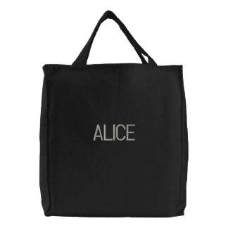 ALICE - Simple Monogrammed Tote Bag