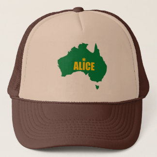 Alice Springs Green and Gold Map Cap