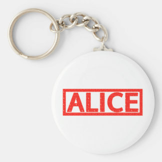 Alice Stamp Basic Round Button Key Ring