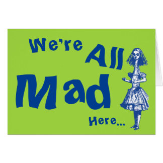 Alice Stretched in Wonderland Greeting Card