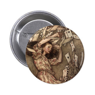 Alice Swarmed by Playing Cards 6 Cm Round Badge