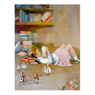 Alice Takes a Trip to Wonderland Postcard