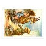 ALICE TALKE WITH THE GRIFFIN AND THE MOCK TURTLE POSTCARD