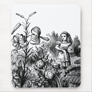 Alice Talks with Garden Flowers Mouse Pad
