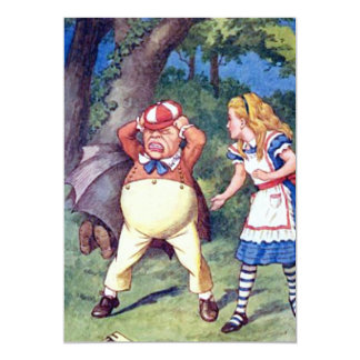 Alice & the Angry Tweedle 13 Cm X 18 Cm Invitation Card
