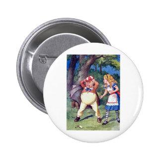Alice & the Angry Tweedle 6 Cm Round Badge