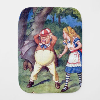Alice & the Angry Tweedle Burp Cloth